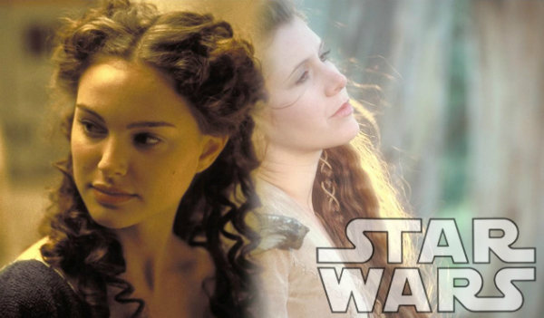 Mother and daughter: Padme and Leia